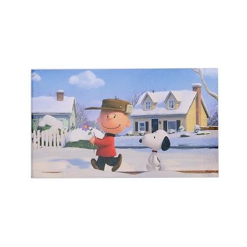 《sun-star》SNOOPY-史努比 The Peanuts Movie系列細長型雙面便條本(愛戀冬天)★funbox生活用品★ OP47816