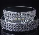 歐式水晶鍍銀蛋糕臺 鏡面玻璃點心盤水果盤 婚慶甜品擺件3130 YL-CYTP111