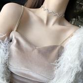 項圈 項鏈女鎖骨鏈正韓簡約項圈學生森系潮人氣質個性網紅短款頸帶