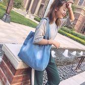 購物包 秋季大容量背包女個性創意牛仔帆布單肩手提包包韓版簡約百搭【韓國時尚週】