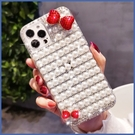 蘋果 iPhone12 iPhone11 12mini 12Pro Max SE2 XS IX XR i8+ i7 i6 珍珠蝴蝶結 手機殼 水鑽殼 訂製