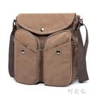 左包右袋 純棉帆布包 韓版休閒斜背包男 時尚商務IPAD側背包 交換禮物