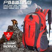 快速出貨-戶外登山包40L大容量輕便旅行折疊背包男士旅游雙肩包防水女書包【萬聖節推薦】
