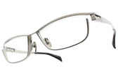 JAPONISM光學眼鏡 JP033 C01 (銀) 紳士流線設計款 平光鏡框 # 金橘眼鏡