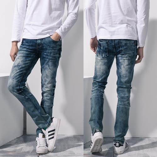 高磅數手工刮破造型牛仔褲