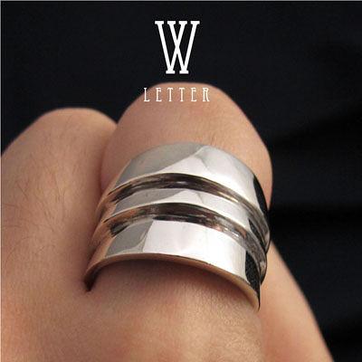 64DESIGN訂製戒指-造型戒 W-Ring 純銀戒指