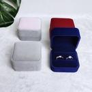 戒指盒 結婚禮首飾戒指盒鉆戒求婚珠寶高檔絨布飾品對戒盒單個小收納盒子【快速出貨】