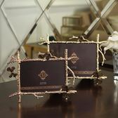 6寸金色蝴蝶相框創意擺臺相架