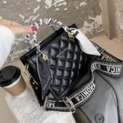 手提包 菱格繡線女包 2020流行新款潮側背包 時尚百搭單肩斜挎包網紅 店慶降價