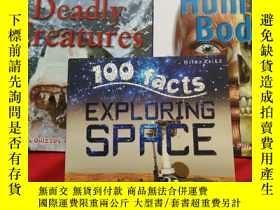 二手書博民逛書店100罕見facts【EXPLPRING SPACE 、HUMAN BODY、DEADLY CREATURES】3