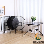 戶外擺攤簡易便攜式正方形玻璃圓桌折疊桌子餐桌家用吃飯小桌子【創世紀生活館】