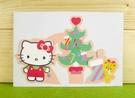 【震撼精品百貨】Hello Kitty 凱蒂貓~卡片-聖誕樹(M)