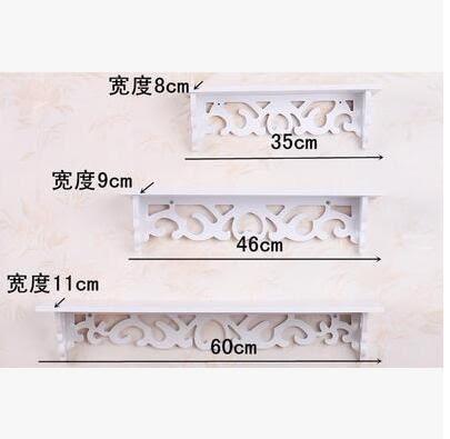 牆壁裝飾美甲店牆上的置物架免打孔粘貼一字隔板掛鑰匙放手機線板(三件)