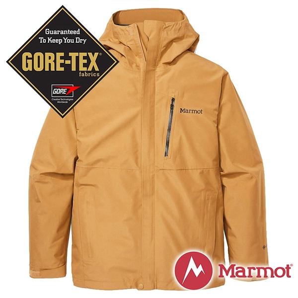 【Marmot】男 兩件式GT化纖保暖連帽外套『威士忌褐』31530-7372 戶外 休閒 登山 露營 保暖 禦寒 防風