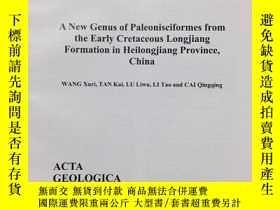 二手書博民逛書店A罕見NEW Genus of Paleonisciformes