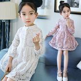 童裝女童裝連身裙中大童公主裙女孩蕾絲裙兒童裝仙女裙【全館滿千折百】