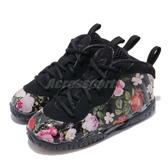 Nike Little Posite One Prm TD Floral 黑 彩色 花卉圖騰 太空鞋 童鞋 小童鞋【PUMP306】 AT8250-001