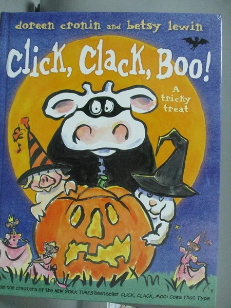 【書寶二手書T5/少年童書_QHT】Click, Clack, Boo!: A Tricky Treat_Cronin,