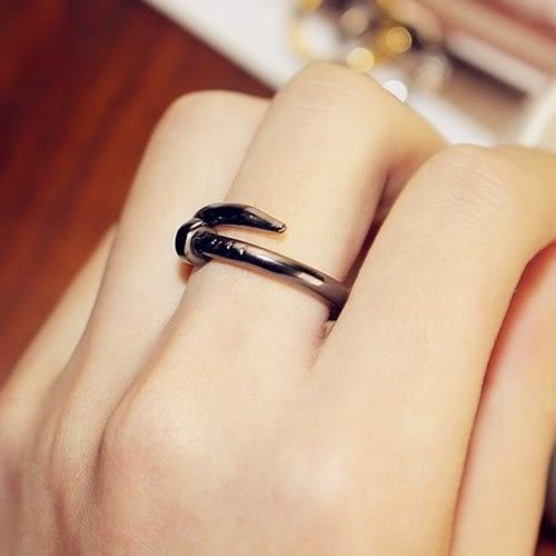 釘子造型戒指 情侶對戒