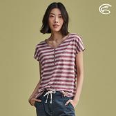 ADISI 女漸層條紋緹花乾爽透氣V領衫 AL2011049 (M-2XL) / 城市綠洲 (透氣、輕量、速乾、排汗)
