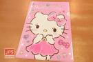 Hello Kitty 凱蒂貓 A4 亮銀L夾 資料夾 寶石 粉 957298