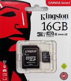 金士頓 KINGSTON 16GB MicroSDHC Canvas ( SDCS/16GB )