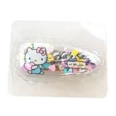 小禮堂 Hello Kitty 造型透明鐵髮夾 小髮夾 瀏海夾 造型髮夾 (藍粉亮片) 4550337-74623
