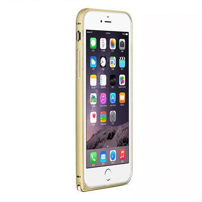 LOVE MEI iPhone6 Plus 簡約輕薄海馬扣金屬邊框 香檳金