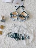 泳衣女 溫泉性感比基尼三件套超仙ins風保守遮肚游泳  錢夫人小鋪