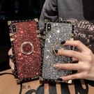三星Note20/10/9/8保護殼 SamSung方形閃鑽指環保護套 Galaxy n20 Ultra手機套 素面皮套三星note 10pus手機殼