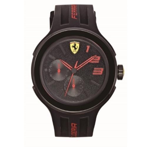 FERRARI Pit Crew速度感時尚腕錶/黑/0830223