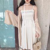 復古溫柔風洋裝兩件套新款防曬衫配吊帶裙 st254『寶貝兒童裝』