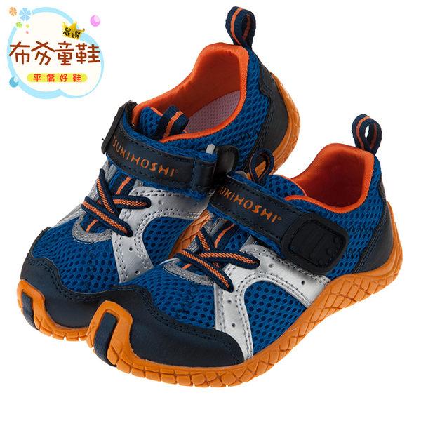 《布布童鞋》Moonstar日本TSUKIHOSHI海藍透氣兒童機能運動鞋(15~18公分) [ I7E2A2B ] 藍色款