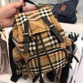 ■現貨在台■專櫃74折■2019新品Burberry The Rucksack Vintage 格紋小型可斜背後背包