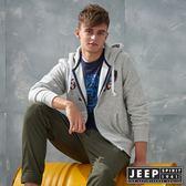 【JEEP】美式冒險休閒連帽外套 (灰)