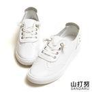 小白鞋 假鞋帶水鑽懶人休閒鞋- 山打努SANDARU【107C107#46】