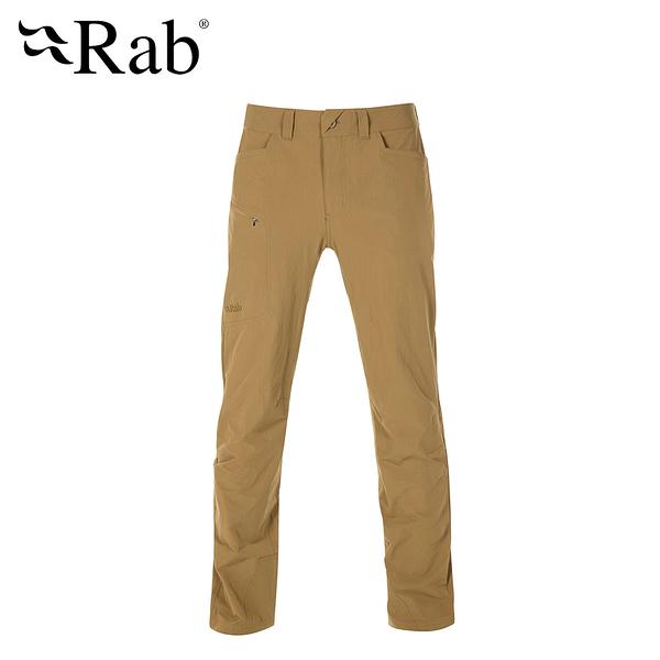 [好也戶外]Rab Men's Traverse Pants 輕量彈性快乾長褲 孜然黃/鋼鐵藍
