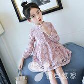 2018新款兒童蕾絲公主裙女童裝春裝中大童春款韓版洋氣潮連身裙子