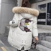 反季棉服女中長款韓版加厚大毛領冬季寬鬆外套羽絨棉襖女2020新款