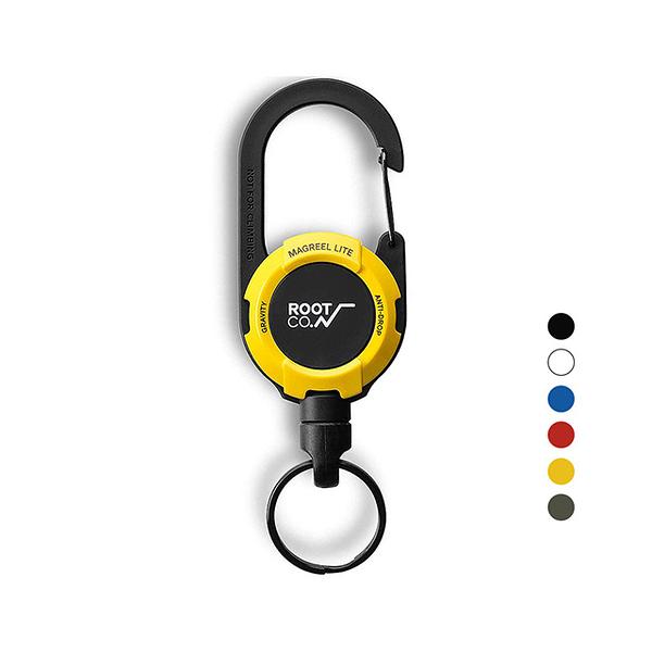 全新 日本 ROOT CO. Gravity MAG REEL LITE 360度旋轉多功能登山扣 黃色款