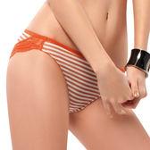EASY SHOP-就是要善變 低腰三角褲(條紋橙)