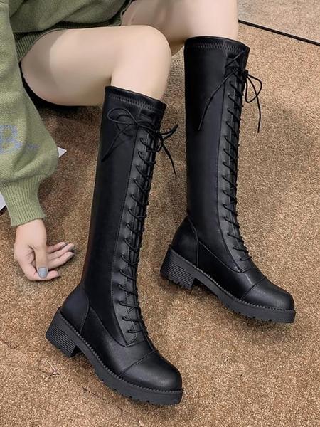 膝上靴 小個子長靴女過膝靴2019新款秋季百搭長筒網紅瘦瘦靴高筒騎士靴子