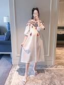 孕婦連衣裙夏季2020新款時尚短袖民族風中長款裙子孕婦裝夏裝上衣