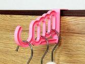 約翰家庭百貨》【SA520】多功能多孔門背掛勾 門背衣架掛鉤 包包衣物門後掛架 顏色隨機出貨