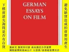 二手書博民逛書店German罕見Essays On Film (german Library)-德國電影隨筆(德國圖書館)Y4