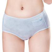 嬪婷-學生成長ACE-ICE系列M-3L中腰三角褲(雪花冰藍)-透氣包臀BS3172-D3