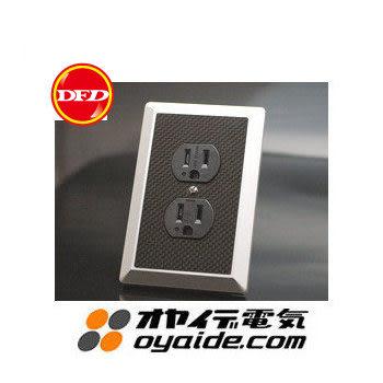 日製Oyaide WPC-XXX 2孔電源插座(牆壁用)