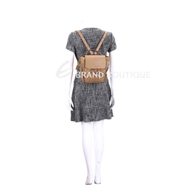 CHLOE Faye 小款 絎縫小牛皮兩用後背包(堅果棕) 1910115-02