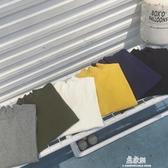 長袖上衣新款秋冬季長袖T恤男士韓版潮半高領帽T青少年打底衫上衣服(快速出貨)
