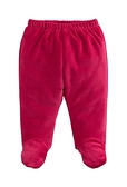 童裝 台灣現貨 保暖天鵝絨寶寶包腳褲-01款大紅色【84079】